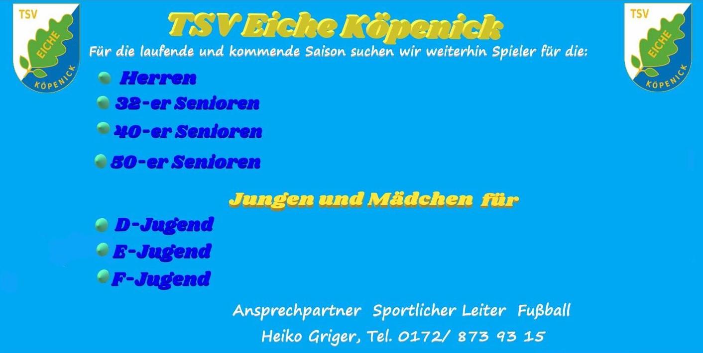 Tsv Eiche Kopenick E V D Jugend Fussball Handball